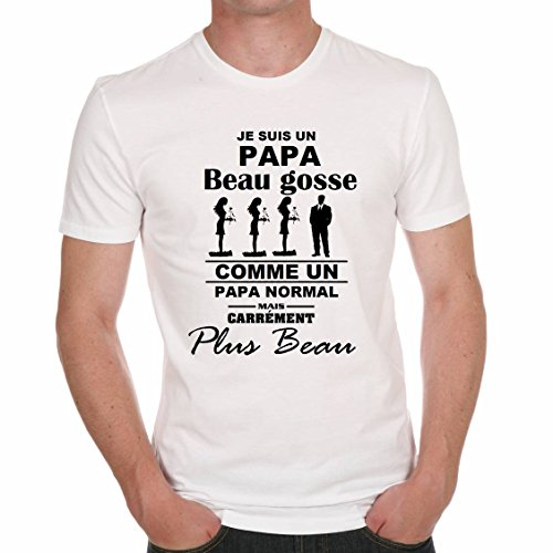 uraeus t shirt humour je suis un papa beau gosse. Black Bedroom Furniture Sets. Home Design Ideas