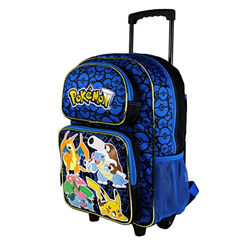 Grand trolley sac a dos POKEMON bleu primaire 40cm x 30cm