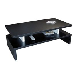 Menzzo b2219s contemporain carrera table basse relevable bois inox rouge mat - Table basse noir et rouge ...