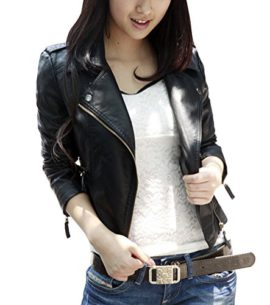 veste biker manteau en simili cuir pour femme. Black Bedroom Furniture Sets. Home Design Ideas