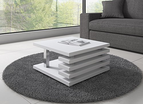 table basse oslo 60 x 60 cm blanc mat. Black Bedroom Furniture Sets. Home Design Ideas