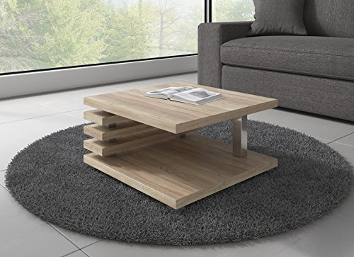 table basse oslo en ch ne sonoma 60 x 60 cm. Black Bedroom Furniture Sets. Home Design Ideas