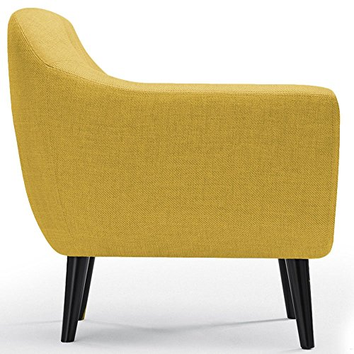 fauteuil scandinave fidelio tissu jaune. Black Bedroom Furniture Sets. Home Design Ideas