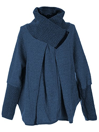 Italienne Laine Veste Manches Gg Longues Cape Mesdames Femmes Cocoon Layer Oversize Manteau Lagenlook Quirky Poncho Zip EX7pqCw