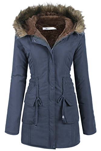 meaneor manteau fourrure epais hiver pour femme veste femme parka blouson epais avec poche. Black Bedroom Furniture Sets. Home Design Ideas