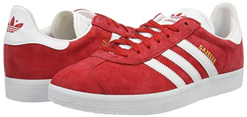 Adidas Gazelle, Baskets Basses Homme, Rouge (Power Red/White/Gold ...