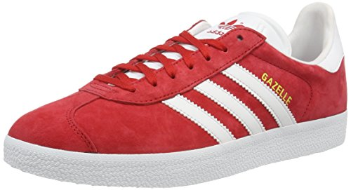 Adidas Gazelle, Baskets Basses Homme, Rouge (Power Red/White/Gold Metallic), 46 2/3 EU