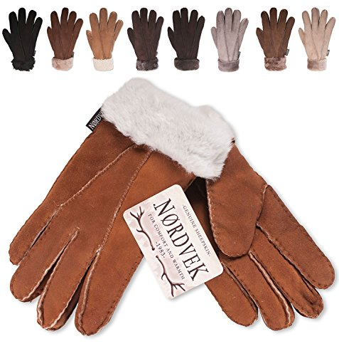 usa cheap sale thoughts on get new Nordvek – Gants pour femme avec bordures en fourrure – cuir de mouton  véritable – # 301-100
