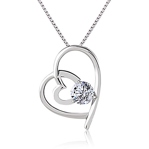 collier femme infini coeur