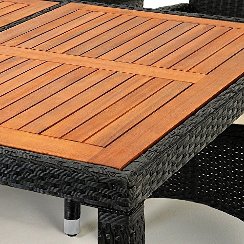 Salon de jardin polyrotin ext rieur meubles ensemble table for Ameublement exterieur jardin