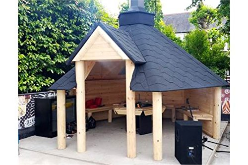 the leisure shack abri en bois pour barbecue de 9 2 m maisonnette d 39 t abri pour grillades. Black Bedroom Furniture Sets. Home Design Ideas