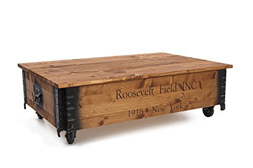 Uncle joe 39 s coffre table basse d 39 appoint style maison de for Table de campagne en bois