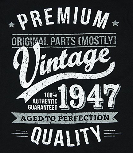 1947 Vintage Year Aged To Perfection 70 Ans Anniversaire T Shirt Pour Homme