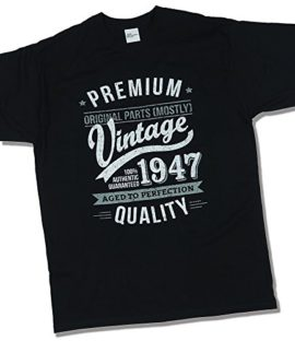 1947-Vintage-Year-Aged-To-Perfection-70-Ans-Anniversaire-T-Shirt-pour-Homme-0