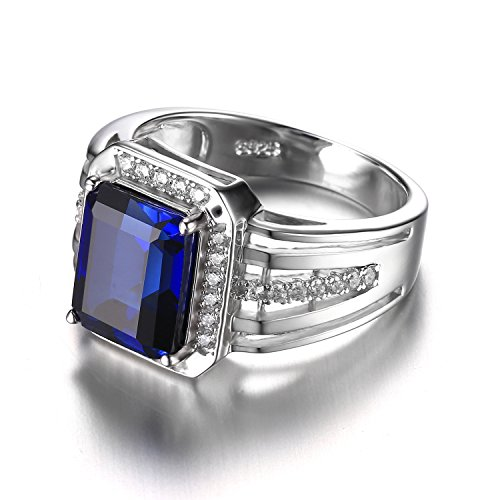 jewelrypalace 3ct bijoux luxe classique bague homme anneau bleu en argent sterling 925 en saphir. Black Bedroom Furniture Sets. Home Design Ideas