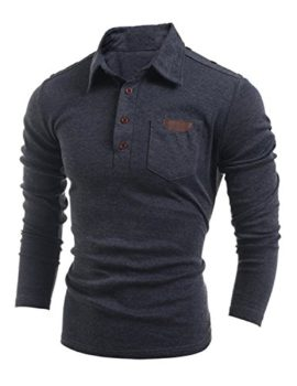 YCHENG-T-Shirt--Manches-Longues-Homme-Poloshirts-Polo-0