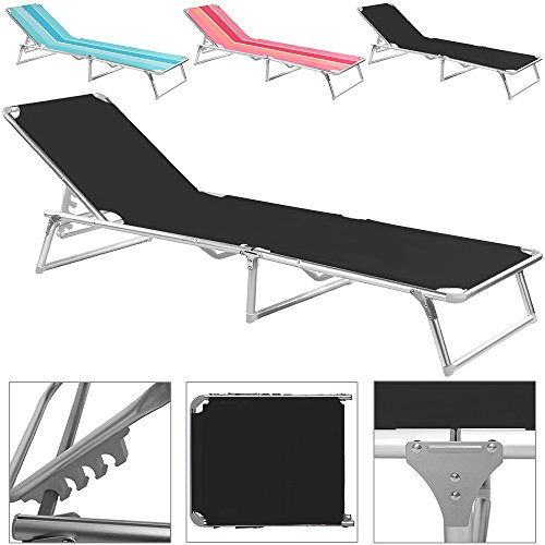 chaise longue pliable noir bleu rose transat bain de soleil jardin plage. Black Bedroom Furniture Sets. Home Design Ideas