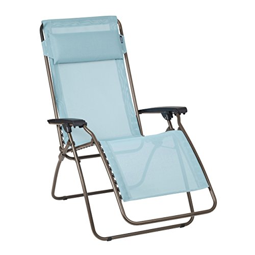 Lafuma fauteuil relax position r glable structure en for Chaise longue pliante decathlon