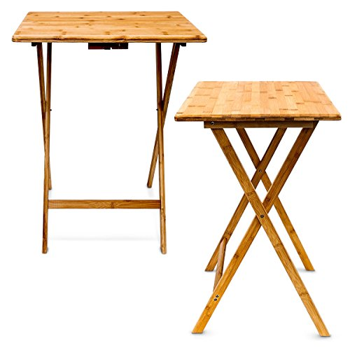 Relaxdays 10015834 table d 39 appoint multiples usages table - Table pliable en bois ...