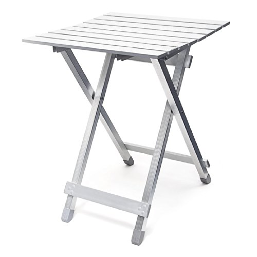 Relaxdays table pliante aluminium table d 39 appoint jardin camping pliable h x l x p 61 x 49 5 x - Table de jardin aluminium pliable ...