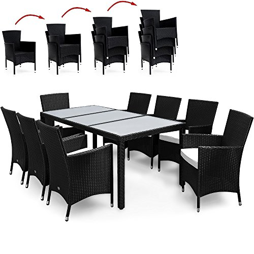Salon De Jardin 17 Pcs Ensemble Table 8 Chaises Alu