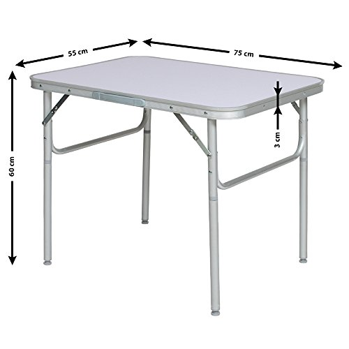 Tectake table pliante de camping jardin bbq barbecue pique nique portable en aluminium - Table pliante aluminium ...