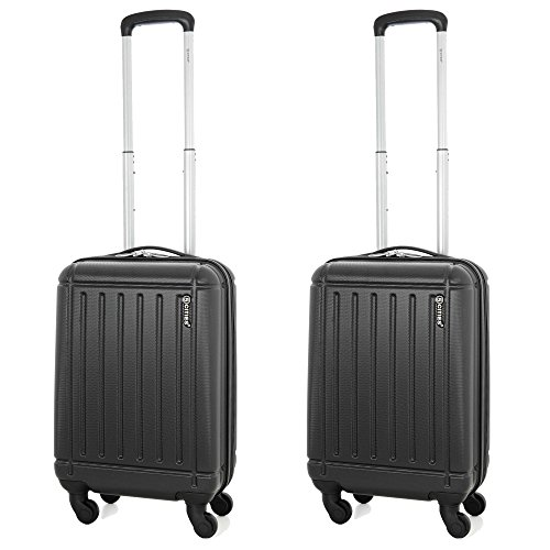 5 cities abs bagage cabine main valise rigide l ger 4. Black Bedroom Furniture Sets. Home Design Ideas