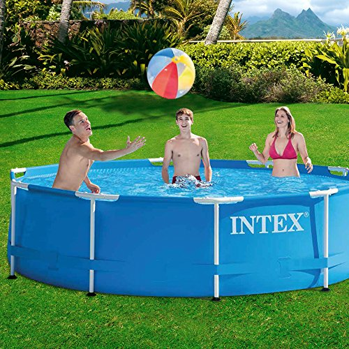 Intex metal frame piscine d montable for Piscine demontable