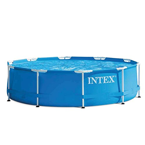 Intex metal frame piscine d montable for Piscine demontable intex