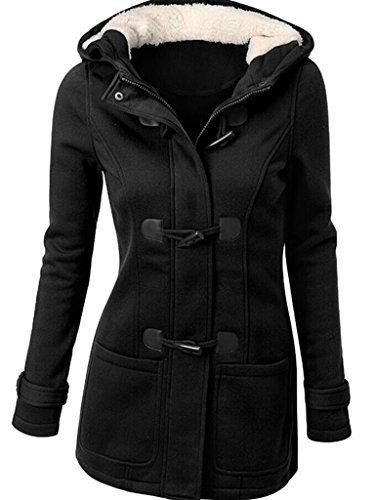 newbestyle femme manteaux veste capuche gilet bouton pais blouson printemps et automne veste. Black Bedroom Furniture Sets. Home Design Ideas