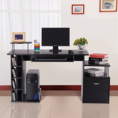 bureau pour ordinateur table meuble pc informatique en mdf. Black Bedroom Furniture Sets. Home Design Ideas