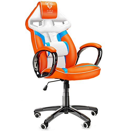 Diablo x gamer si ge gaming racing chaise de bureau avec - Chaise de bureau gaming ...