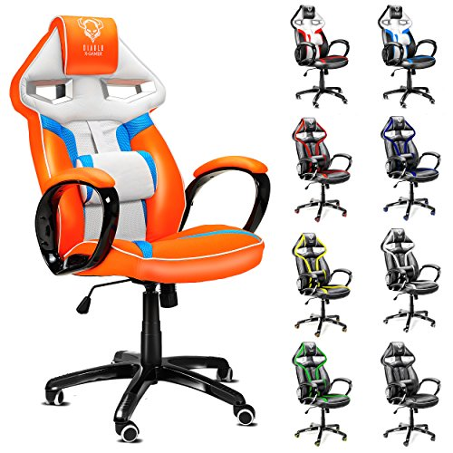 diablo x gamer si ge gaming racing chaise de bureau avec accoudoirs fauteuil de bureau. Black Bedroom Furniture Sets. Home Design Ideas