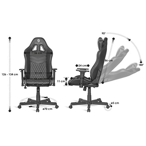 empire gaming mamba chaise gamer fauteuil gamer si ge. Black Bedroom Furniture Sets. Home Design Ideas