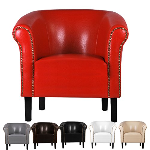 fauteuil crapaud monaco simili cuir rouge w287 03. Black Bedroom Furniture Sets. Home Design Ideas