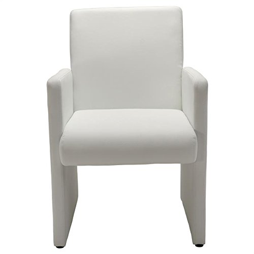 fauteuil de salon confort tony accoudoirs rev tement synth tique blanc. Black Bedroom Furniture Sets. Home Design Ideas