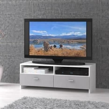 Finlandek salon finlandek meuble tv helppo 95cm blanc gris for Meuble salon gris et blanc