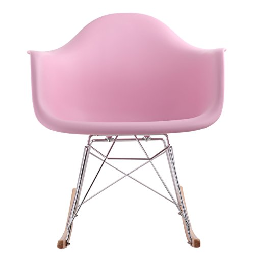 Hnnhome chaise bascule r tro d 39 inspiration eames panton rose for Chaise 0 bascule