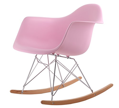 hnnhome chaise bascule r tro d 39 inspiration eames panton rose. Black Bedroom Furniture Sets. Home Design Ideas