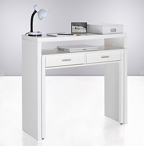 Home innovation table bureau extensible console bureau for Bureau 70 cm largeur