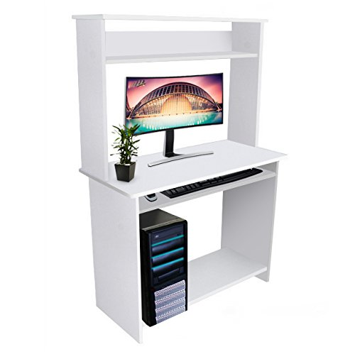 kendan sylph blanc bureau d 39 ordinateur de travail avec tag res d 39 angle compact pour maison et. Black Bedroom Furniture Sets. Home Design Ideas