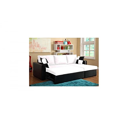le kyklos blanc canap dangle convertible lit et coffre de rangement. Black Bedroom Furniture Sets. Home Design Ideas