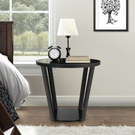 lifewit table ronde bout de canap table de nuit table basse noir. Black Bedroom Furniture Sets. Home Design Ideas