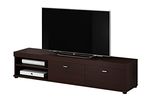 meuble tv armoire ch ne fonc support elsa en bois weng 140 cm. Black Bedroom Furniture Sets. Home Design Ideas