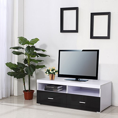 meuble tv bas table armoire basse avec 2 tiroirs meuble de. Black Bedroom Furniture Sets. Home Design Ideas