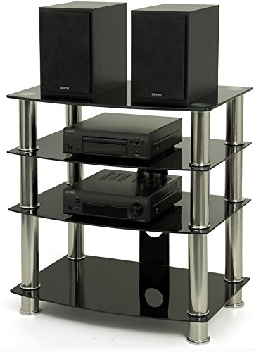 meuble tv plasma lcd avec verre noir gts 6. Black Bedroom Furniture Sets. Home Design Ideas