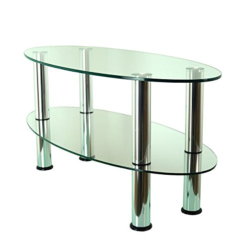39 mountright table basse ovale en verre - Table basse verre ovale ...