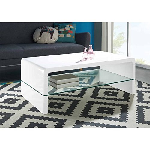 Table Blanc Primis 105 Basse Laqué – Cm xedrCoB