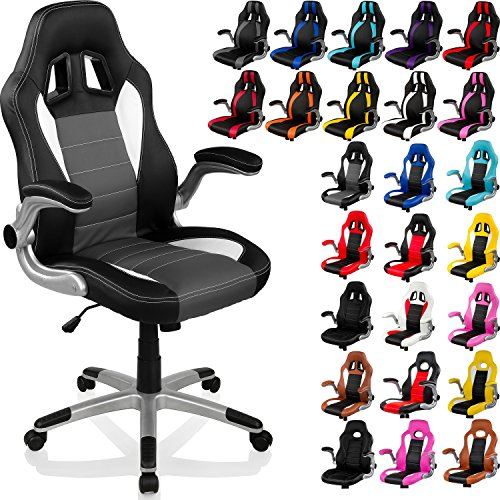 racemaster racing chaise de bureau gt racer stripes accoudoirs pliables fauteuil de. Black Bedroom Furniture Sets. Home Design Ideas