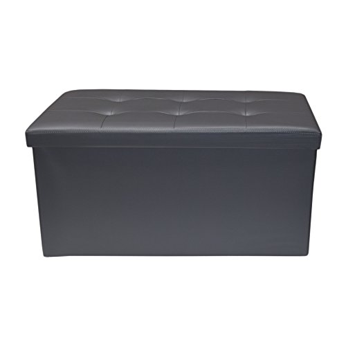 Rebecca srl pouf coffre de rangement banc rectangle for Coffre de rangement salon